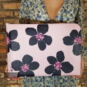 Kate Spade Grand Flora Pink Blue Laptop Case pink
